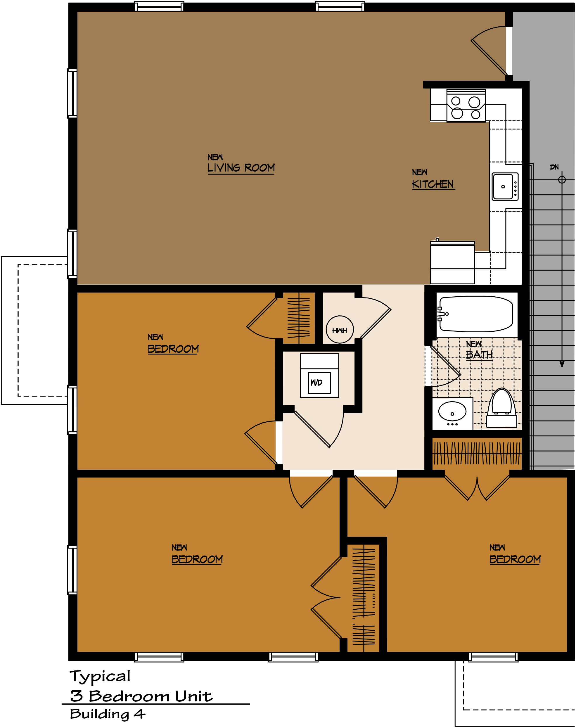 Apartments townhomes office space commercial clinton township for 1200 square foot office plans